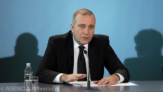 Grzegorz Schetyna, minister spraw zagranicznych
