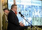 """Komorowski o """"ofiarach żołnierzy wyklętych"""". Kolejna wpadka czy tylko niefortunnie dobrane słowa?"""