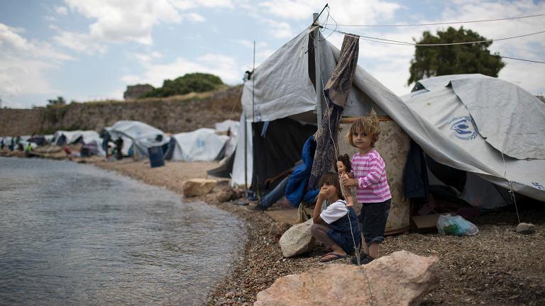 Obóz dla uchodźców na greckiej wyspie Chios