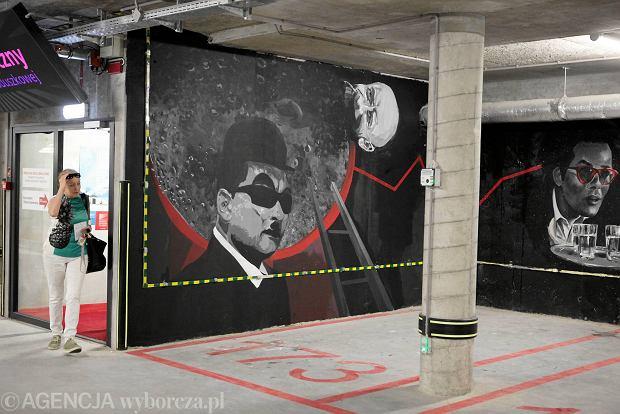 Mural w parkingu GCF już po przemalowaniu