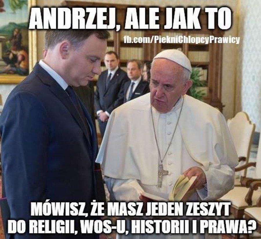 Listopad przyniósł prezydentowi spotkanie z papieżem w Watykanie. Franciszek był nieco zaskoczony...
