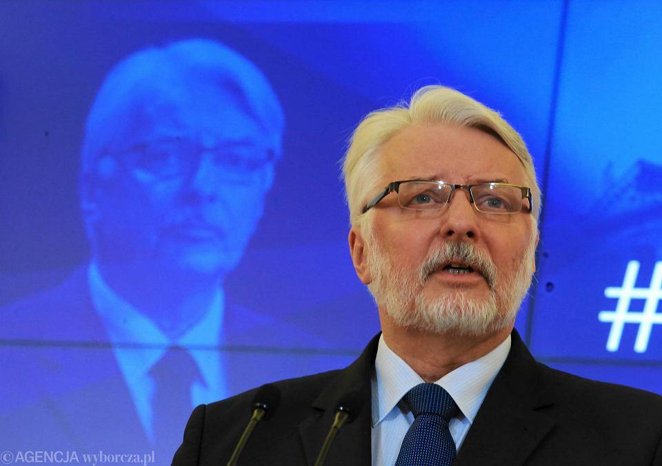 Witold Waszczykowski podczas konferencji