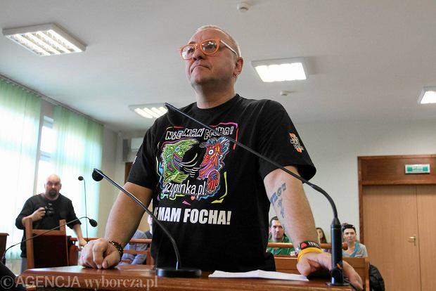 Jerzy Owsiak zeznaje przed sądem w Złotoryi