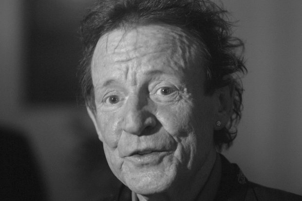 tFile picture shows Jack Bruce, bassist of music group Cream, speaking during an interview in Los Angeles, California