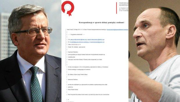 Bronisław Komorowski, Paweł Kukiz i fragment korespondencji między sztabami