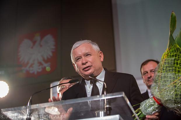 Jarosław Kaczyński na konferencji PiS