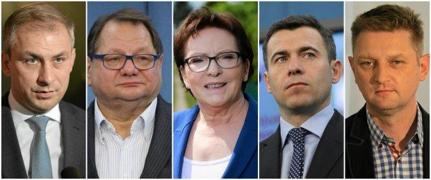 Grzegorz Napieralski, Ryszard Kalisz, Ewa Kopacz, Wojciech Olejniczak, Andrzej Rozenek
