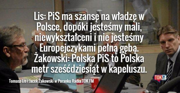 tomasz Lis i Jacek Żakowski w Poranku TOK FM