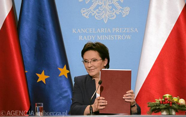 Ewa Kopacz na konferencji prasowej