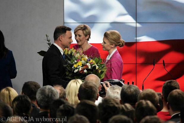Wybory prezydenckie 2015. Wieczór wyborczy Andrzeja Dudy