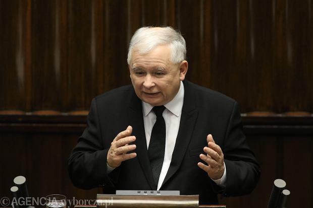 Jarosław Kaczyński - pierwsze posiedzenie Sejmu VIII kadencji