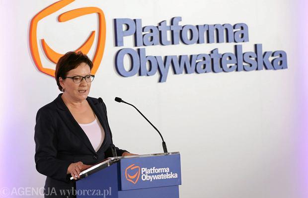 Ewa Kopacz na posiedzeniu Rady Krajowej Platformy Obywatelskiej