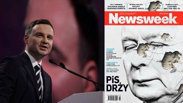 Andrzej Duda i najnowsza okładka tygodnika
