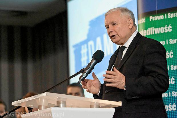 Jarosław Kaczyński na konwencji wyborczej PiS w Bydgoszczy