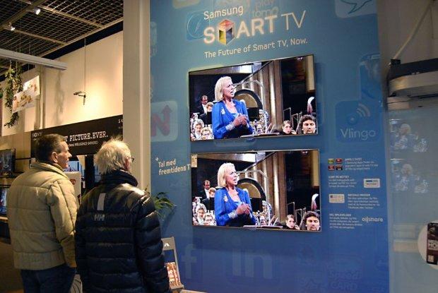 Wystawa telewizorów Samsunga - SmartTV