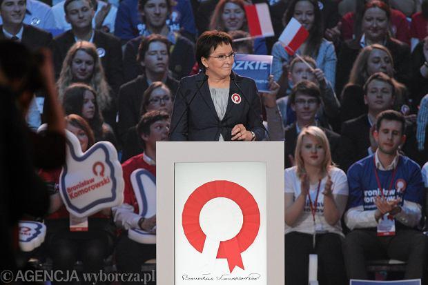 Ewa Kopacz na konwencji wyborczej Bronisława Komorowskiego