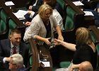Sejm. Wanda Nowicka i Anna Grodzka po głosowaniu nad ustawą o uzgodnieniu płci