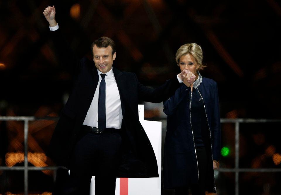 Francja, prezydent-elekt Emmanuel Macron