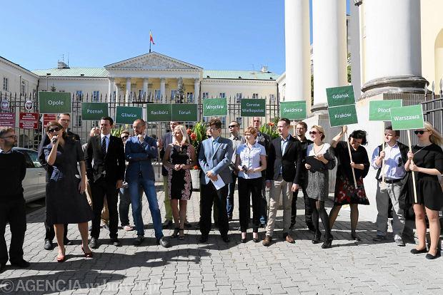 Konferencja prasowa Porozumienia Ruchów Miejskich