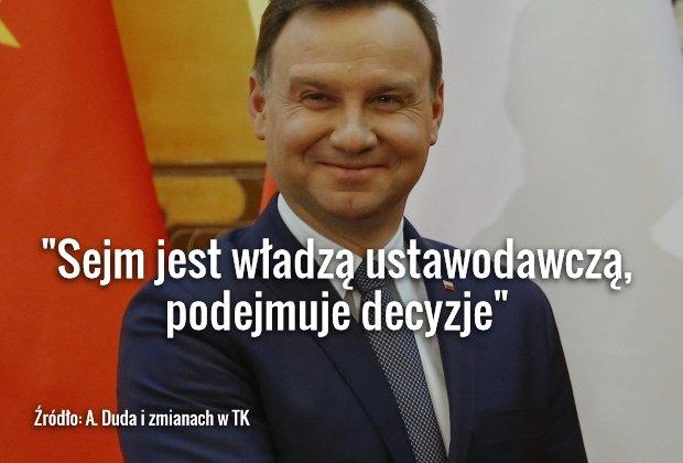 Andrzej Duda o uchwałach ws. sędziów Trybunału Konstytucyjnego