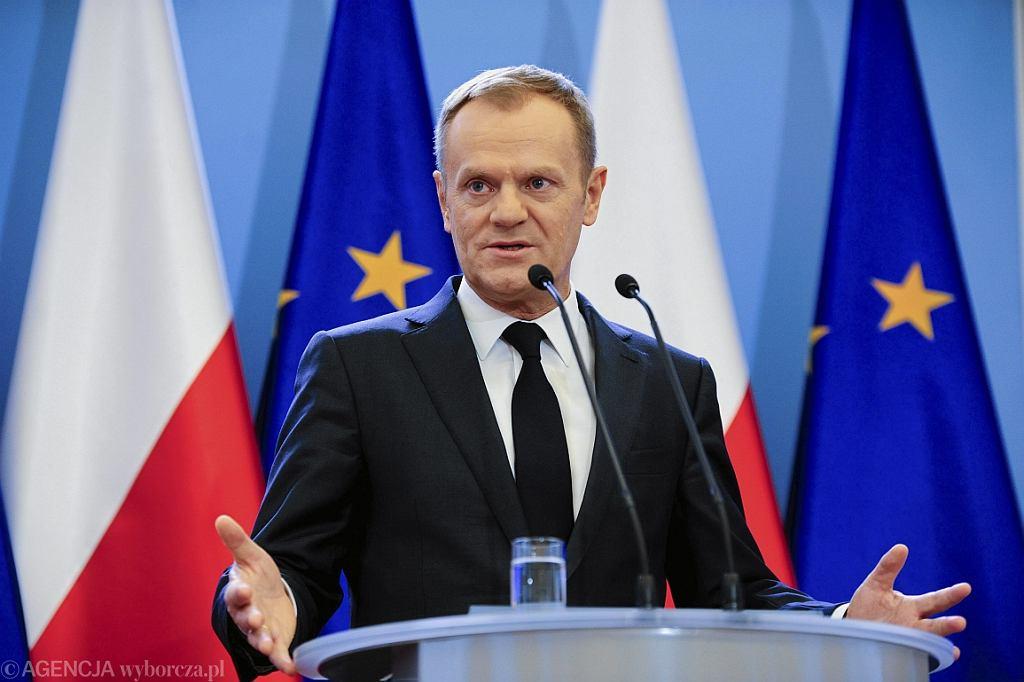 Donald Tusk w 2014 r. jako premier (fot. Adam Stępień/AG)