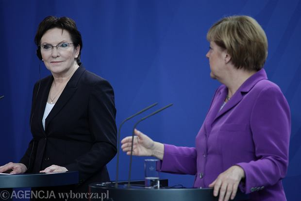 Ewa Kopacz i Angela Merkel