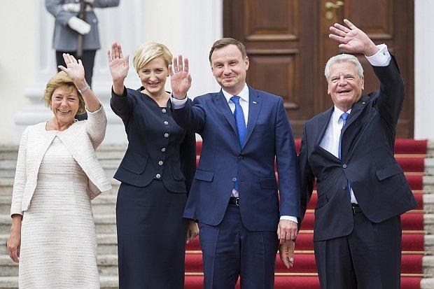 Prezydent Andrzej Duda spotkał się podczas swojej wizyty w Niemczech z niemieckim prezydentem Joachimem Gauckiem