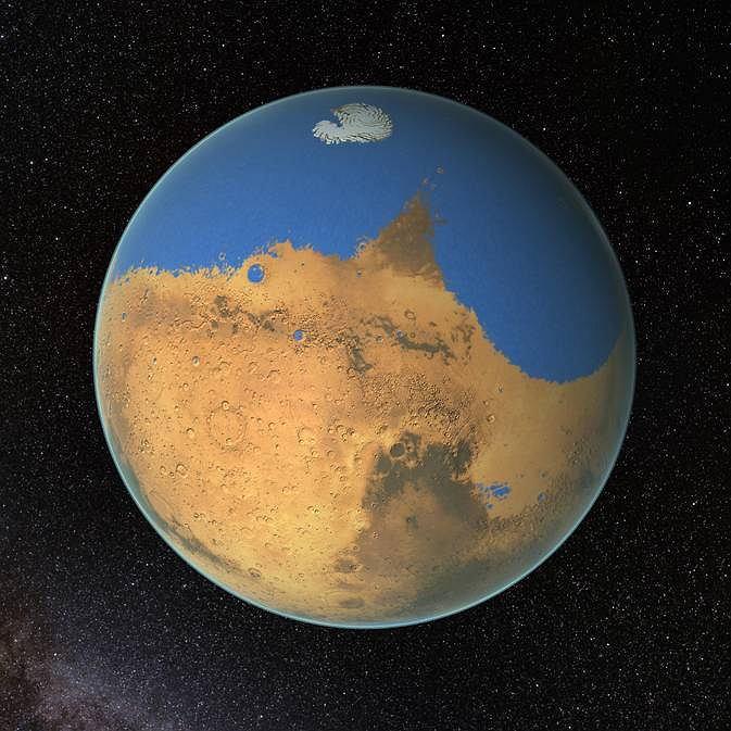 Tak mógł wyglądać Ocean Arktyczny na Marsie