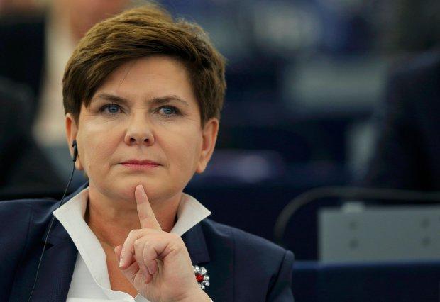 Premier Beata Szydło podczas debaty o Polsce w Parlamencie Europejskim