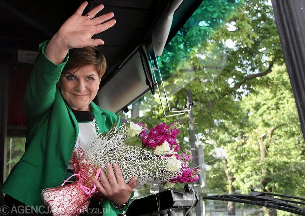 Beata Szydło podczas inauguracji kampanii