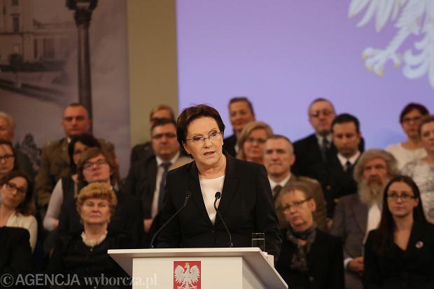 Premier Kopacz podsumowała pół roku rządu.
