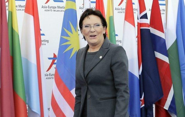 Ewa Kopacz na szczycie w Mediolanie