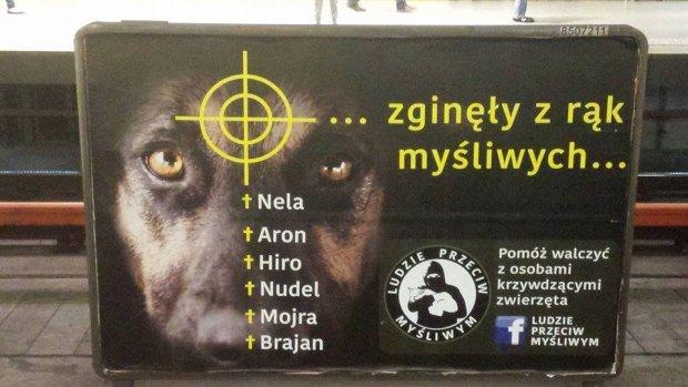 Plakaty akcji pojawiły się m.in. w warszawskim metrze