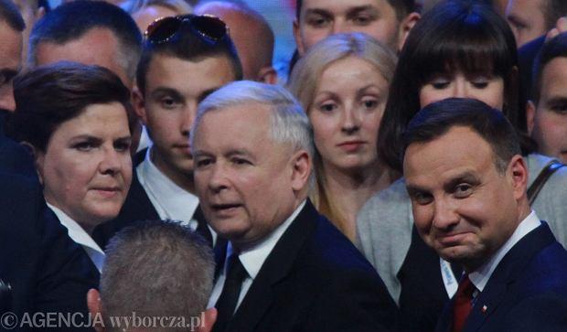 Beata Szydło, Jarosław Kaczyński i Andrzej Duda
