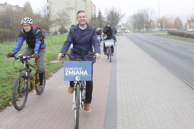 Robert Biedroń na ulicach Słupska
