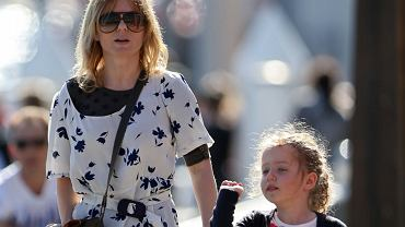 Geri Halliwell with her daughter