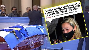 Diego Maradona's coffin