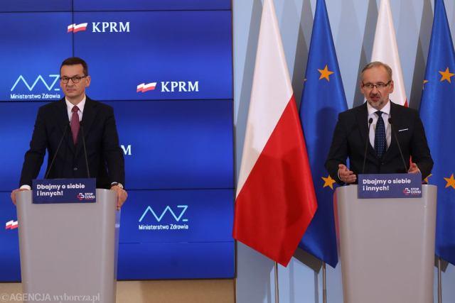 Mateusz Morawiecki i Adam Niedzielski