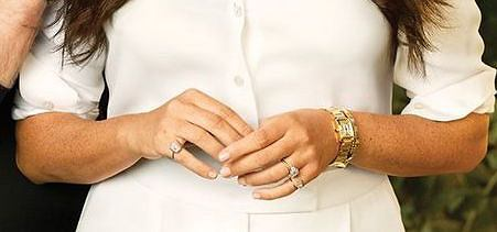 The ring on the little finger of Meghan Markle is controversial.
