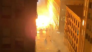 Explosions on the set of the movie 'Matrix 4'