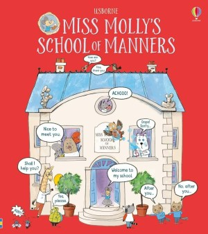 A charmingly illustrated picture book about a little raccoon called Algernon and his extraordinary day at Miss Molly's school. Algernon's manners are bad at first... but lessons in the Sharing Studio and Listening Carefully Lab, lunchtime in the Dining Hall, the Library's lovely language books and Good Sports Day soon have a trans formative effect.
