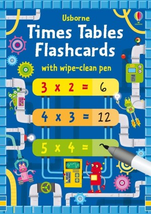 Help children master their times tables with this set of 144 flash cards for tables up to 12x12 plus a wipe-clean pen. The cards for one table are all the same colour, with the answers on the front and a space to fill on the back. There are suggestions for ways to practise with the cards, and they can be wiped clean and used again and again.