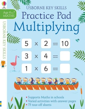 A handy pad of tear-off sheets with over 130 activities to help children practise their multiplication skills. The activities get progressively harder and include number wheels, missing numbers, calculations and more. Part of the Usborne Key Skills series that supports the maths lessons children learn at school. Answers are at the back of the book.