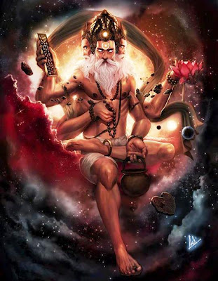 Brahma, The Creator - 150 Trillion Year old God, who thinks that he is the source of everything