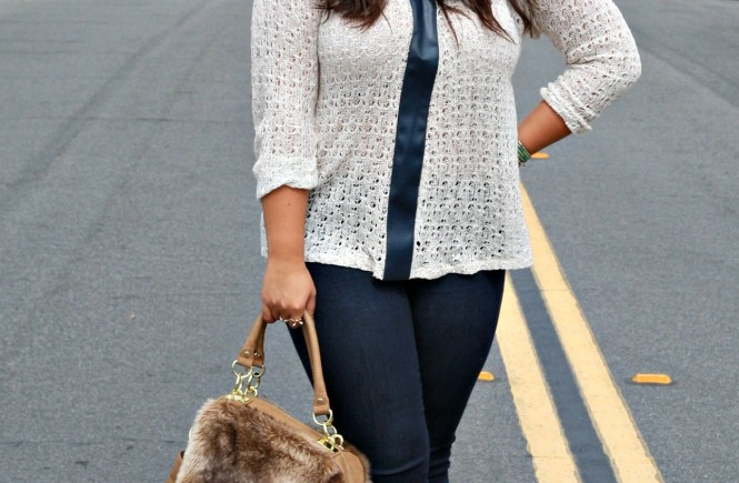 mesh style sweaters