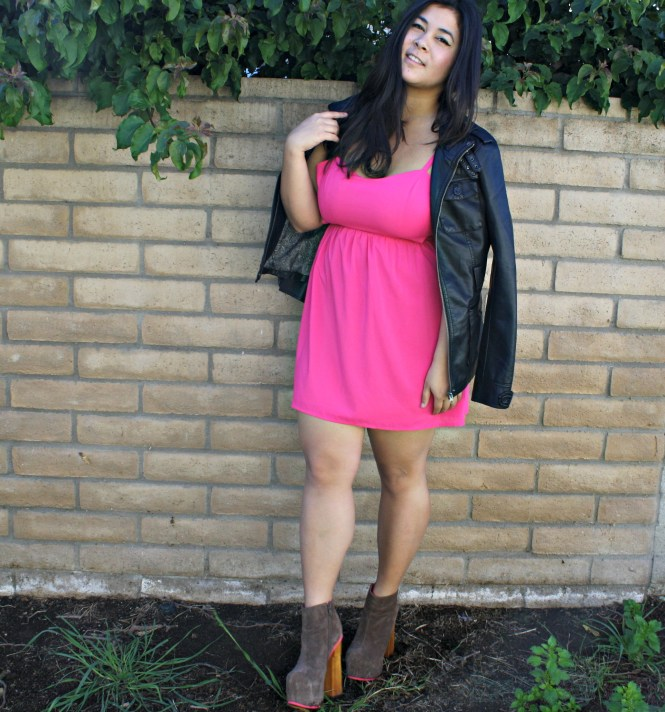 edgy pink valentines day outfit