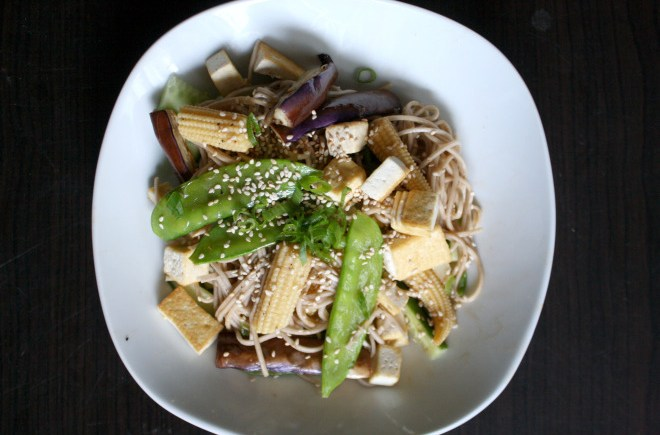 vegetable soba stir fry