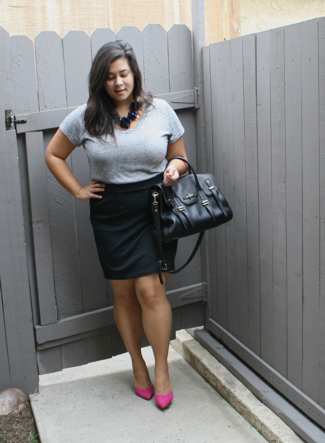 Professional Girl Boss in pink pumps; OOTD