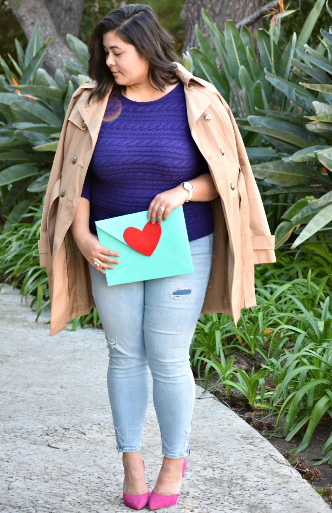 Colorful plus size valentines day ootd