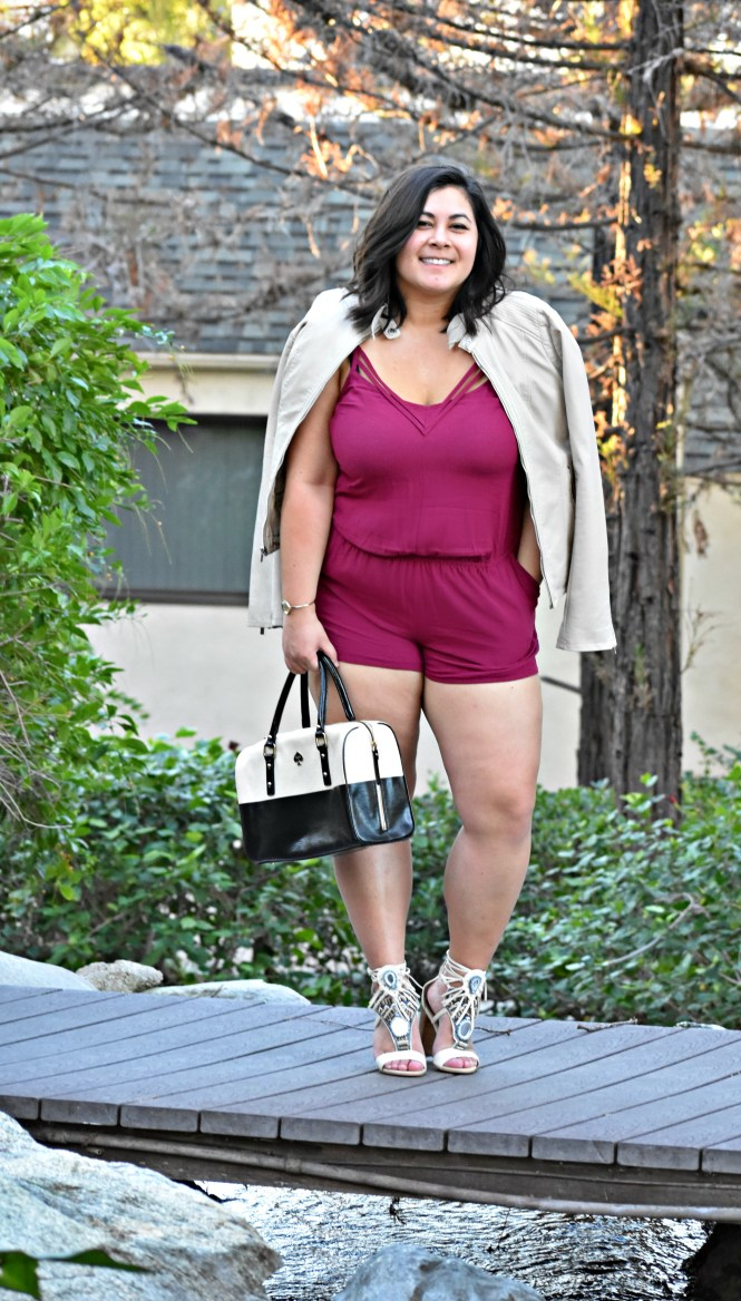 Valentines day date plus size romper